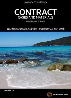 PDF OF: Contract: Cases and Materials 13th edition by Jeannie Paterson
