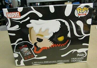 Funko Pop! Marvel #401 Anti-Venom Box Lunch Exclusive Tee & Pop Bundle Shirt: XL