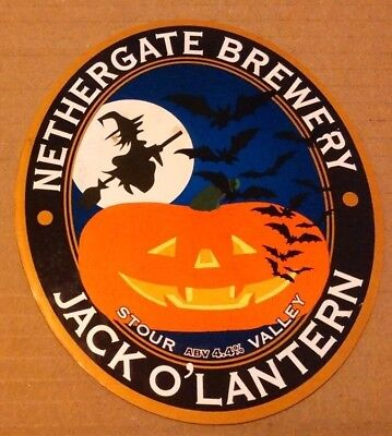 Beer pump clip badge front  NETHERGATE brewery JACK O' LANTERN cask ale