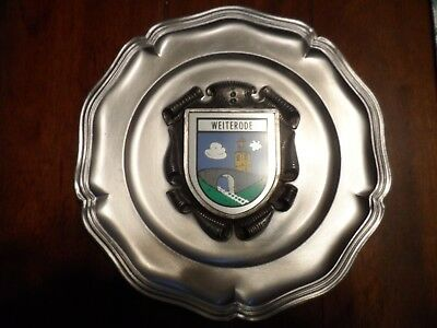 German Pewter Ramsthal Germany Wall Plate - GES GESCH