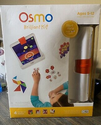 Osmo Brilliant Kit for Ipad Hands on Games Tangram Numbers Newton Masterpiece