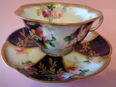 Stunning George Jones Cup and Saucer Fluted And Scalloped Ex. Cond.,