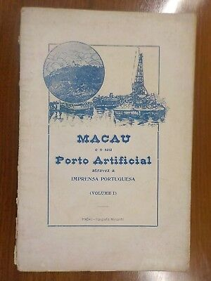 1924 china Macao harbour and port press review MACAU E O SEU PORTO ARTIFICIAL