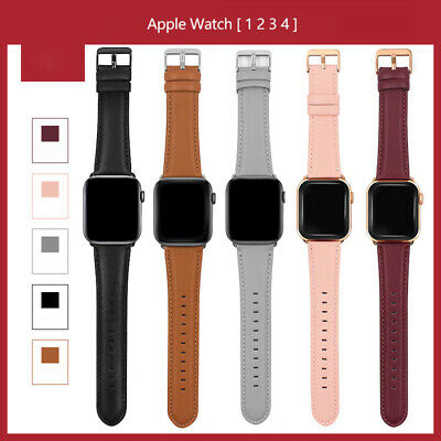 Retro Genuine Leather iWatch Band Men Casual Strap For Apple Watch 4 3 2 1 38/42