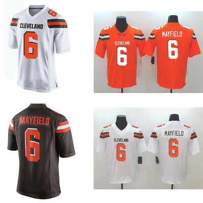 new product f44d1 9e7ce NEW MEN'S CLEVELAND Browns 6# Baker Mayfield Jersey Brown ...