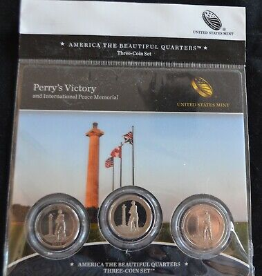 2013 Perry's Victory Ohio National Park P,d,s America The Beautiful (3) Coin Set