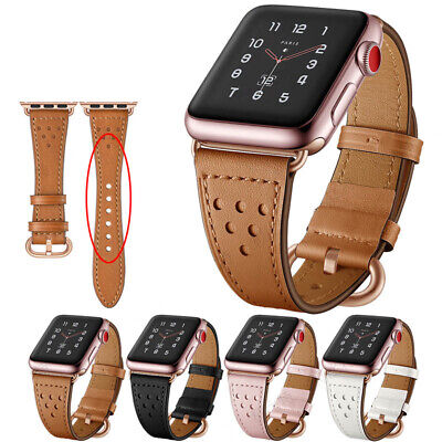 Genuine Leather iWatch Band Casual Strap For Apple Watch 4 3 2 1 44/42/40/38mm