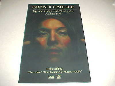 """Brandi Carlile """"By The Way, I Forgive You"""" PROMO ONLY POSTER - PERFECT CNDT !"""