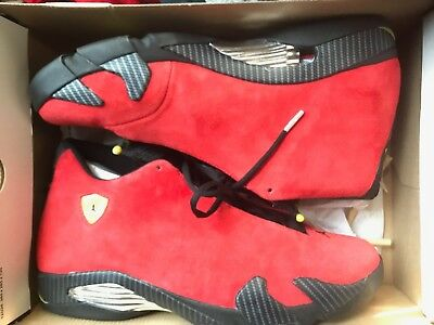 los angeles 11245 66f51 air jordan retro 14 ferrari size 14 worn once 15 minutes with shirt