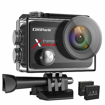 Campark 4K Action Camera WIFI EIS Anti-Shake Touch Screen Sports Underwater Cam