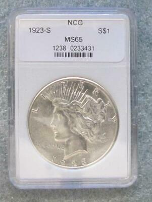 1923-S Peace Silver Dollar Ms/bu Us Coin
