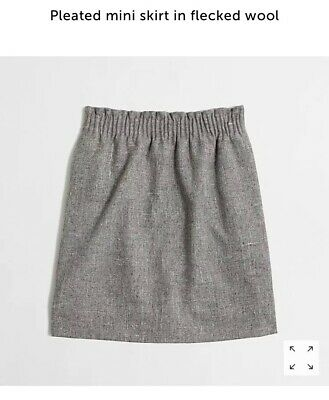 Womens J Crew Factory Pleated Mini Skirt In Freckled Wool Grey Size 6 52eb03787