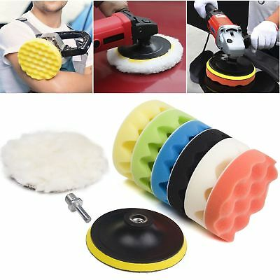 "9Pack 4""-7'' Polishing Waxing Buffing Sponge Pad Kit Compound Car Polisher Drill"