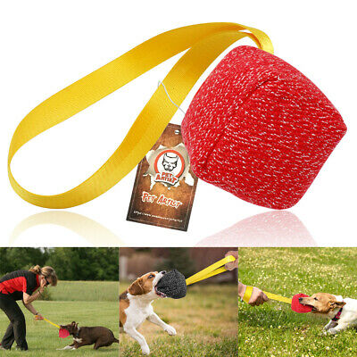 Aggressive Chew Toys for Dogs Indestructible Interactive Jute Bite Tug Ball Red