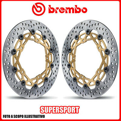 208973722 PAIR BRAKE DISCS BREMBO SUPERSPORT KAWASAKI Z 800, E, ABS 800cc 2013>