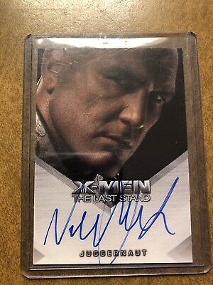 X-Men 3 The Last Stand Trading Cards Autograph Card Vinnie Jones Juggernaut