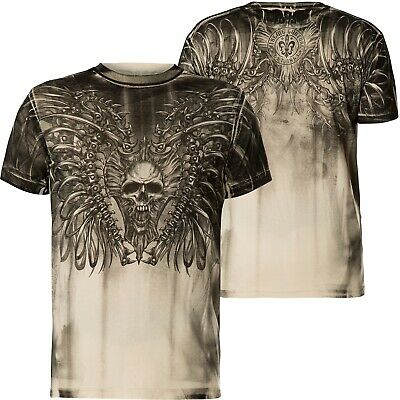 Xtreme Couture by Affliction T-Shirt Rusty Bones White/Grey