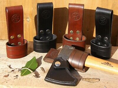 Leather Axe-Holder For 3-Inch Wide Belt - Size & Colour Choice - **New Design**