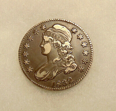 1832 Capped Bust Half Dol. - Overton 103 - Sharp Looking Coin - FREE SHIPPING