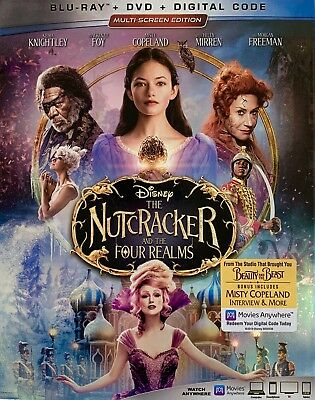 THE NUTCRACKER AND THE FOUR REALMS ~ Blu-Ray + DVD + Digital Code *New