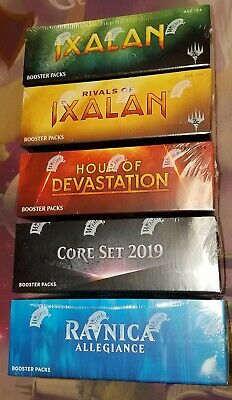 5X MAGIC MTG M2019, Ixalon, Rivals, Hour, Ravnica Allegianc Booster Boxes SEALED