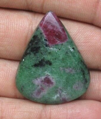 Natural Ruby Zoisite Cabochon Pear Shape 55.30 Cts Loose Gemstone D 9669