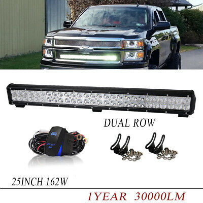 Slim 25inch 162W Led Work Light Bar Spot Flood For Offroad Jeep Ford SUV 4WD 24