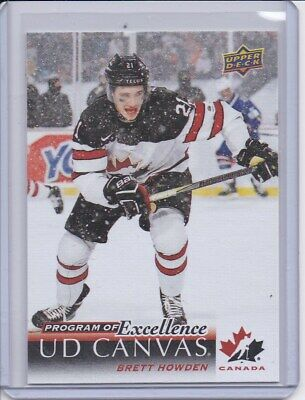 2018-19 Upper Deck Series 2 UD CANVAS PROGRAM OF EXCELLENCE BRETT HOWDEN