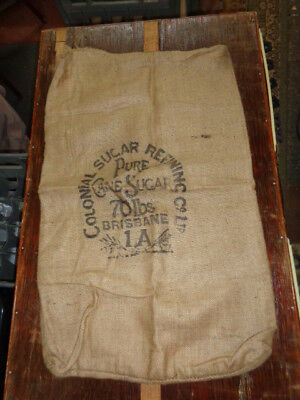 Collectable/vintage/old Csr Hessian Sugar Bag 7O Pound Weight Empty