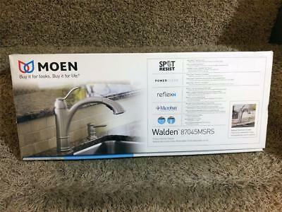 MOEN Walden Single-Handle Pull-Out Sprayer Stainless Kitchen Faucet 87045MSRS