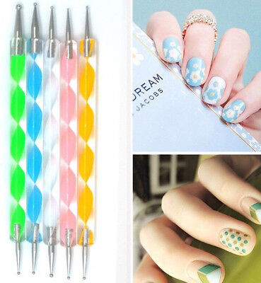 20Pcs UV Gel Polish Nail Art Tool Design Set Dotting Painting Liner Brush Pen