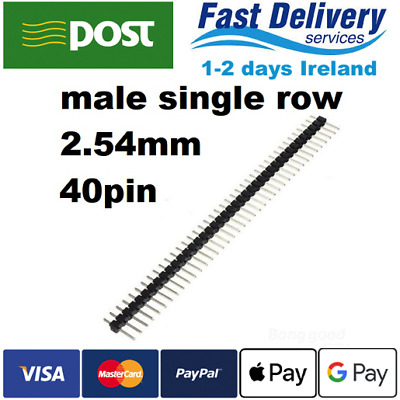 40 Pin 1x40 Single Row Male 2.54 Breakable Pin Header Connector Strip