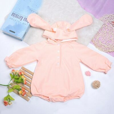 Charm Unisex Baby Boy Girl Cute Cotton Bunny Ears Jumpsuit Clothes Outfit HOT SA