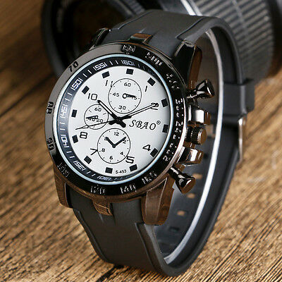 Casual Mens Military Sport Quartz Watches Fashion Multi-color Silicone Strap