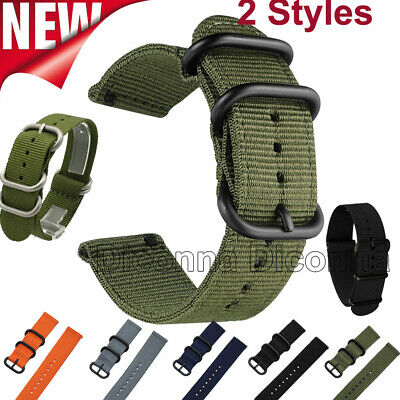 18mm 20mm 22mm 24mm Ballistic Durable Military Nylon Wrist Watch Band Strap