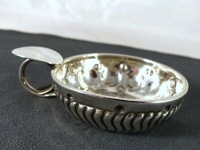 """Antique French Sterling Silver """"Tastevin"""" or Wine Tasting Cup Ladoucette 1869"""