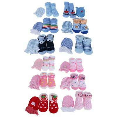 1 Set Baby Socks Gloves Prevent Scratch Face Warm Soft Cute Breathable Costume