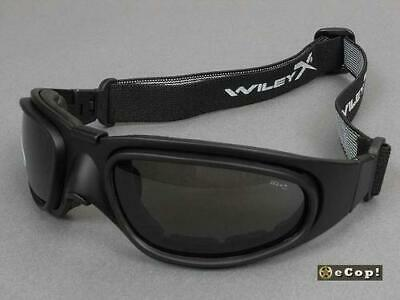 5aa6a34a178c Wiley X SG-1 Tactical Sunglasses Matte Black Smoke Gray Clear Lenses Goggles