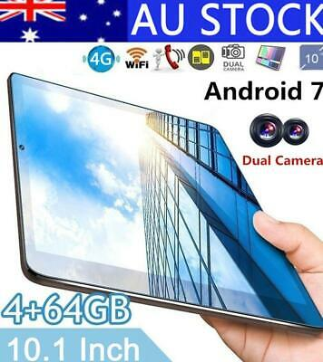 "HD Screen 10.1"" Eight-Core Android 7.0 Tablet IPS 4GB+64GB Bluetooth Wi-Fi 4G AU"
