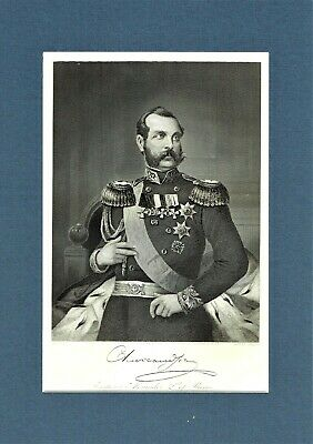 Emperor Alexander II of Russia - Engraving after Alonso Chappel - c1870