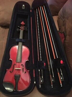 STENTOR STUDENT II VIOLIN (3/4 SIZE) Supplied With Case 3 Bows and Shoulder Rest