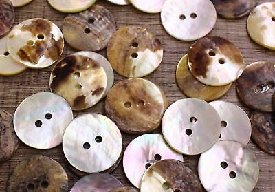 Real Shell Button Lot 20 20mm 32L Agoya Natural Coat Mother of Pearl DIY Suit