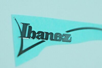 Etiqueta de guitarra grande de Ibanez Guitar Headstock Neck METAL Sticker...