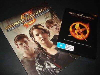 """""""THE HUNGER GAMES"""" DVD 3-DISC DELUXE EDT + BOOK- Lawrence, Hemsworth, Mockingjay"""