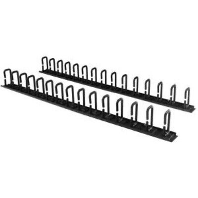 NEW STARTECH CMVER40UD 6FT VERTICAL D-RING HOOK CABLE ORGANIZER.b.