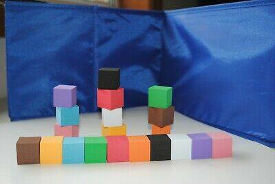 Foam Cubes 20p  - Maths  - Games - Educational - Numeracy - School