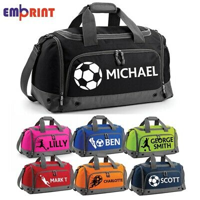Personalised Football Holdall Customised Kids School PE Sports Gym Shoe Kit Bag