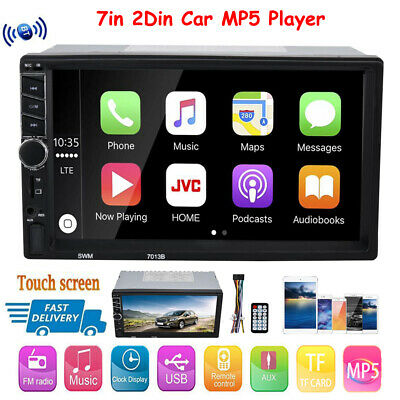 """7"""" 2 Din Car MP5 MP3 Player Radio Touch Screen Bluetooth FM TF for Apple Carplay"""