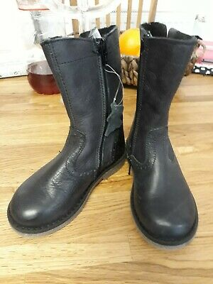 Girls leather new boots john lewis size 26