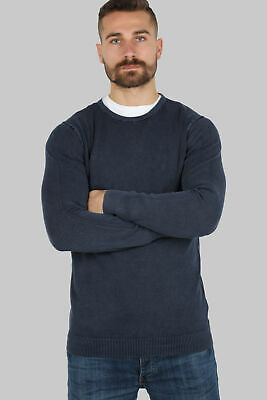 Coveri Collection Pullover puro cotone acid wash blu Regular fit